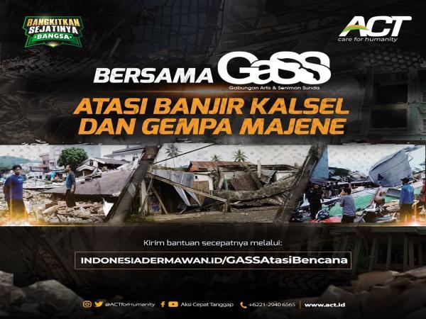 Foto Bersimpati atas Terjadinya Bencana Banjir Banjarmasin dan Gempa Majene, ini yang dilakukan Artis dan Publik Figur