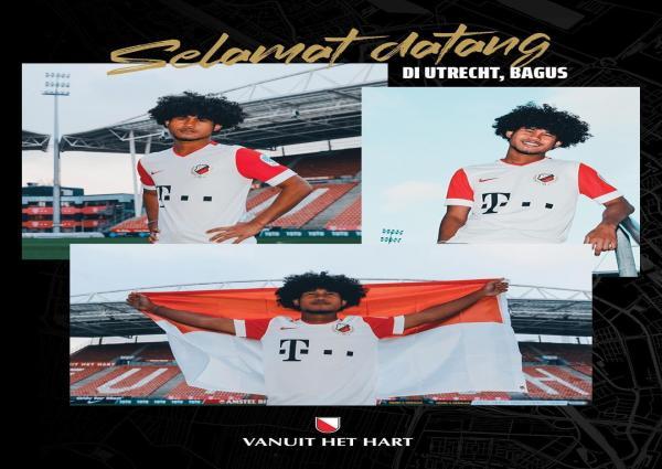 Foto Resmi! Striker Timnas U-19 Bagus Kahfi dikontrak Klub Eredivisie Belanda FC Utrecht