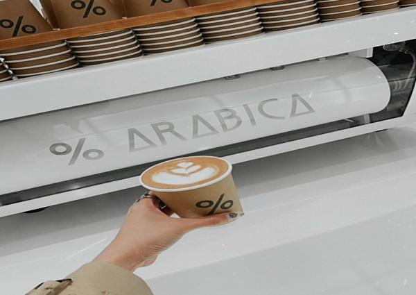Foto Begini Kehebohan Tamara Dai Saat menikmati Menu Kopi Dark Latte dan Spanish Latte dari % Arabica